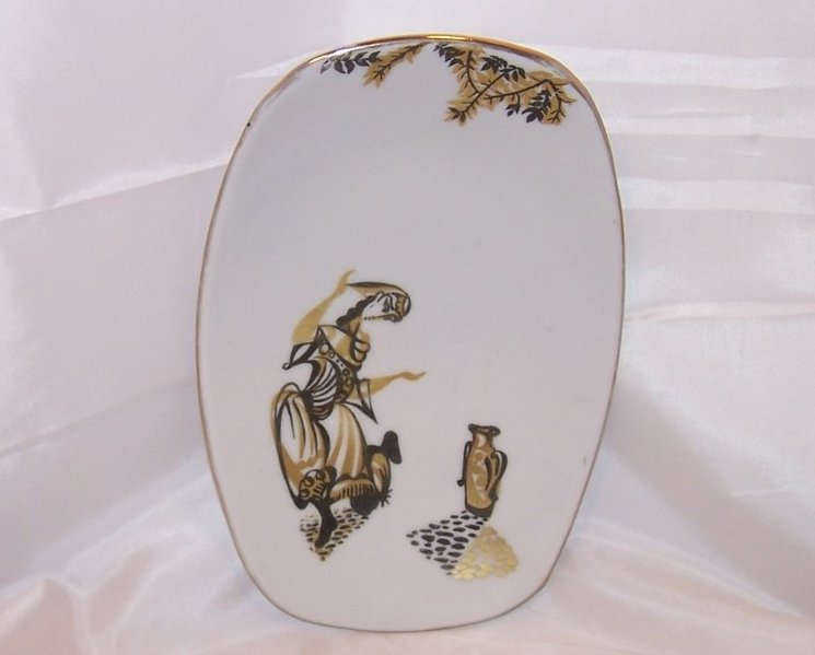 Image 1 of Naaman Israel, Small Curved Serving Plate, Dish