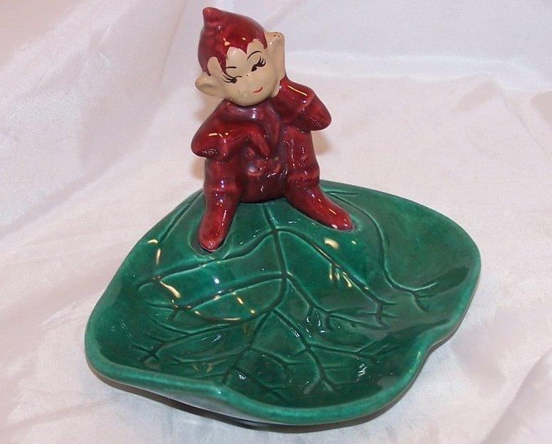 Image 0 of Pixie on Leaf, Gnome Dwarf Elf Bowl, Dish, California