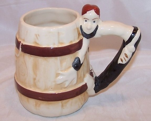 Image 0 of  Pirate and Cask Mug Cup w Pirate Handle, MK Japan