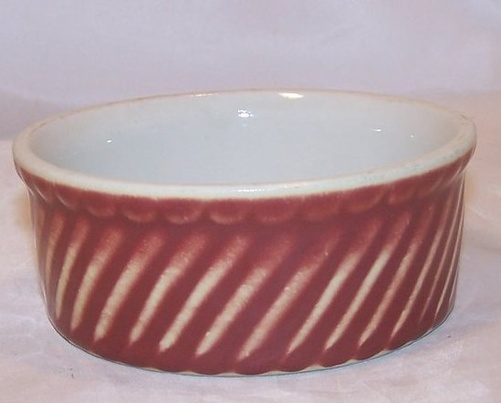 Small Bowl, Red Swirl, Hall
