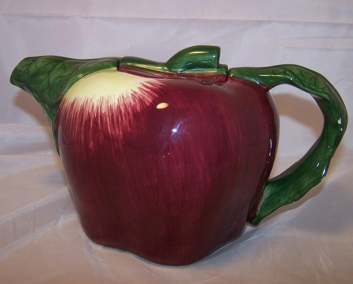 Treasure Craft Appealing Apple Teapot Tea Pot, 5 Cup