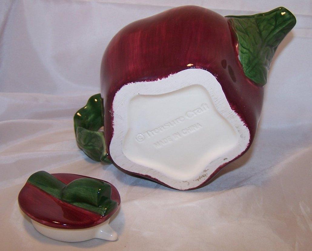 Image 5 of Treasure Craft Appealing Apple Teapot Tea Pot, 5 Cup