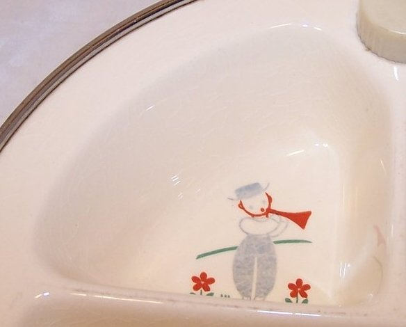 Image 1 of Little Boy Blue Divided Baby Warmer Bowl, Warming Dish, Excello Chromium, USA