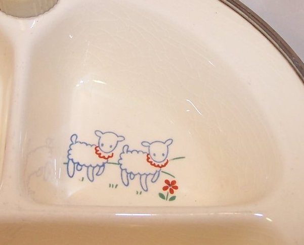 Image 2 of Little Boy Blue Divided Baby Warmer Bowl, Warming Dish, Excello Chromium, USA