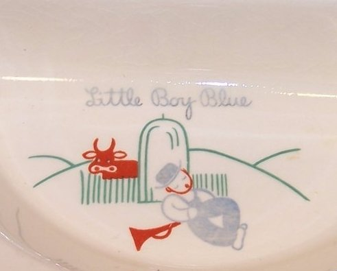 Image 3 of Little Boy Blue Divided Baby Warmer Bowl, Warming Dish, Excello Chromium, USA