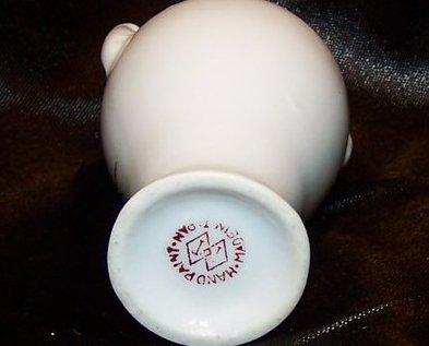 Image 4 of Porcelain Urn Vase w Bamboo Design, Japan Japanese