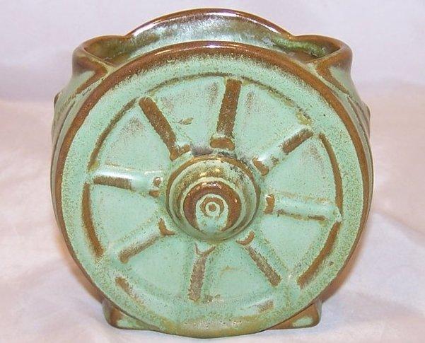 Frankoma Wagon Wheel Vase, Frankoma Pottery, Oklahoma