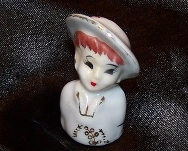 Thimble Lady Head, Vintage Japan