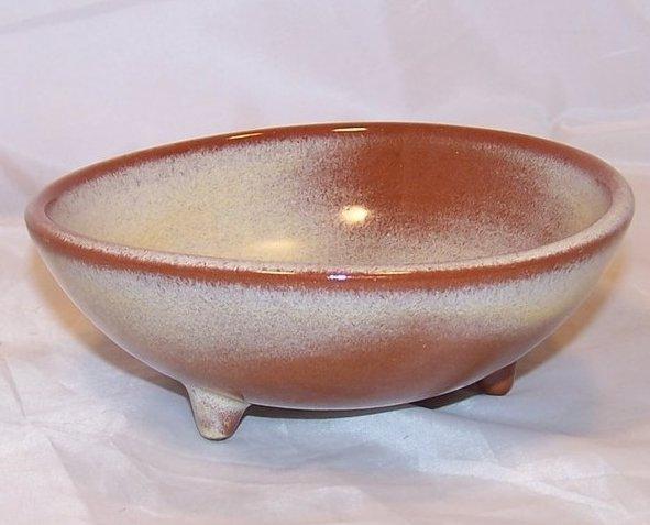 Footed Brown Bowl, Frankoma Pottery, Oklahoma