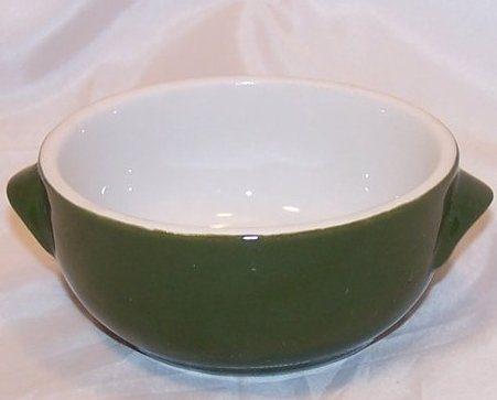 Small Bowl, Dark Green and White, Hall