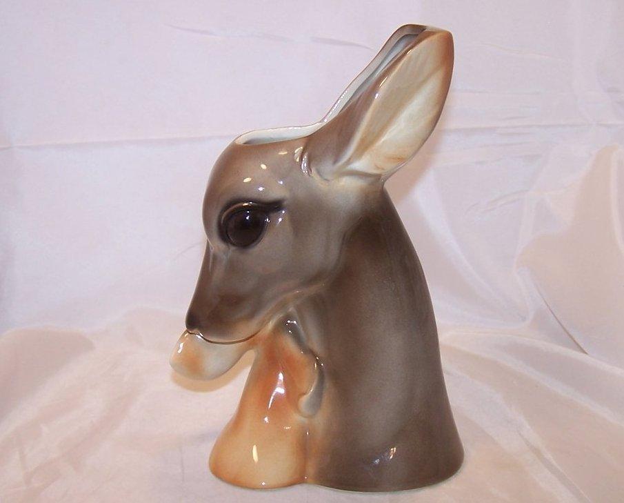 Image 2 of Royal Copley Deer, Doe and Fawn Head Vase