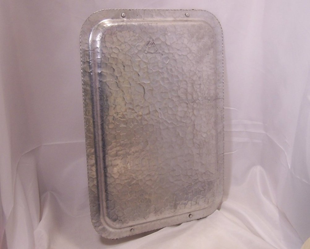 Image 3 of Clean and Bright Tulip Aluminum Serving Tray, Rodney Kent Silver Co