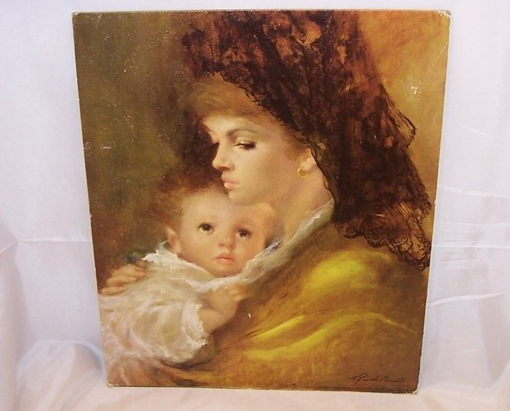 Mother Love by A. Gentilini, DAC Lithograph, USA