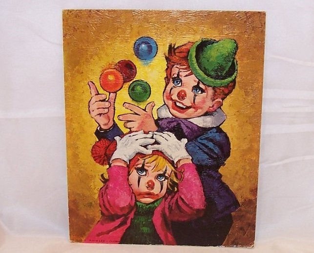 Juggling Children Clowns Lithograph, Lee, USA