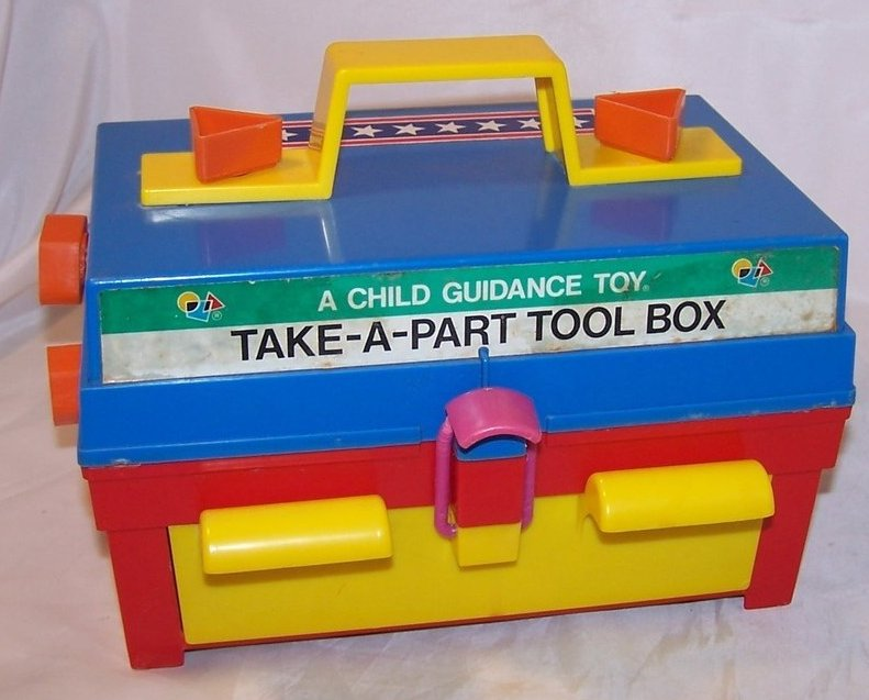 Image 0 of Take A Part Tool Box, Child Guidance Toy, Complete, Vintage