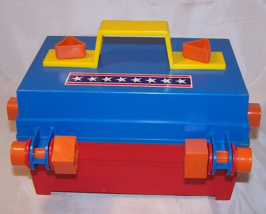 Image 2 of Take A Part Tool Box, Child Guidance Toy, Complete, Vintage