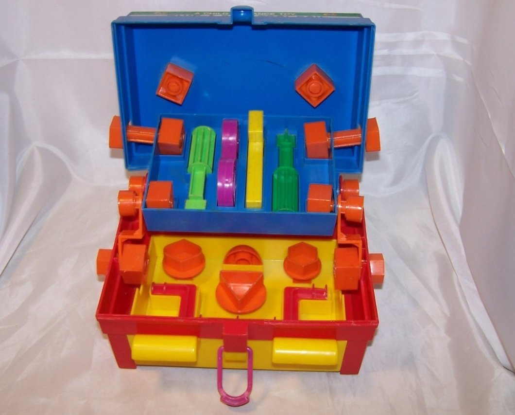 Image 3 of Take A Part Tool Box, Child Guidance Toy, Complete, Vintage