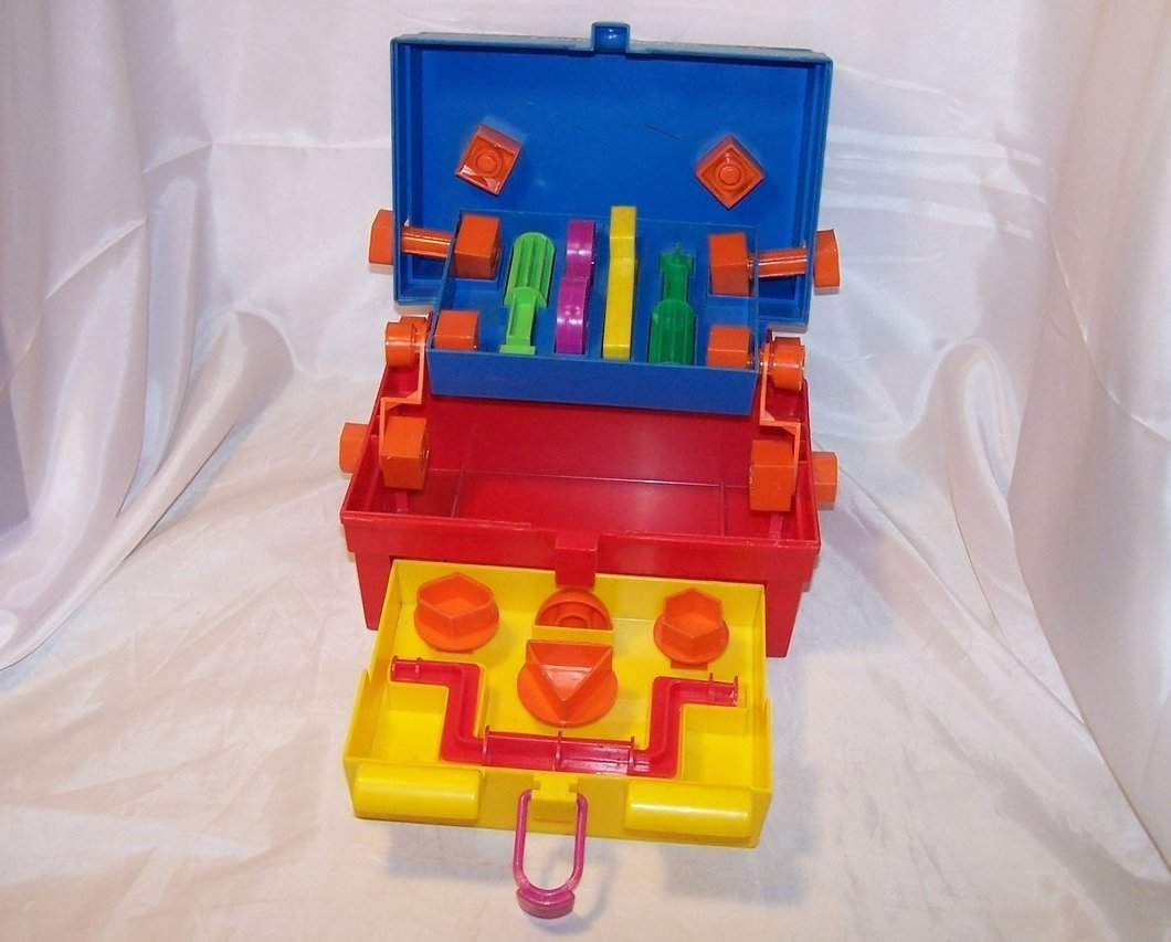 Image 4 of Take A Part Tool Box, Child Guidance Toy, Complete, Vintage