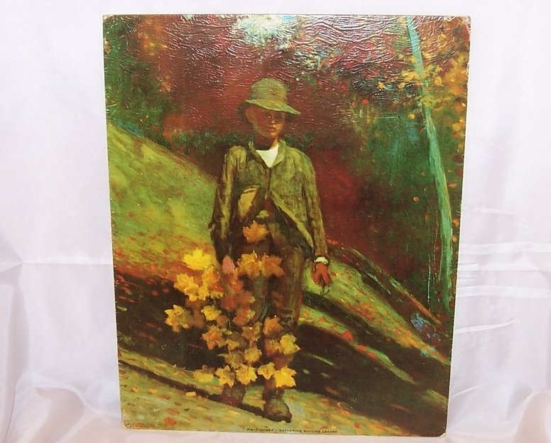 Gathering Autumn Leaves by Homer, DAC Lithograph, USA