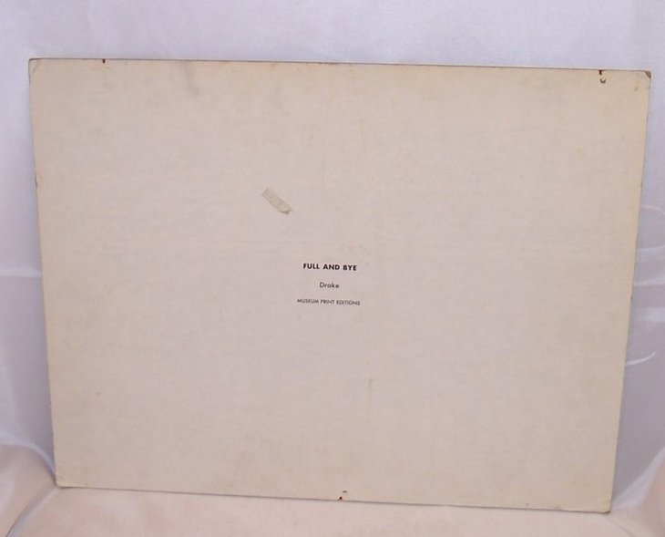 Image 1 of Full and Bye, Drake, 1967 Encore Art Prints, Lithograph, USA