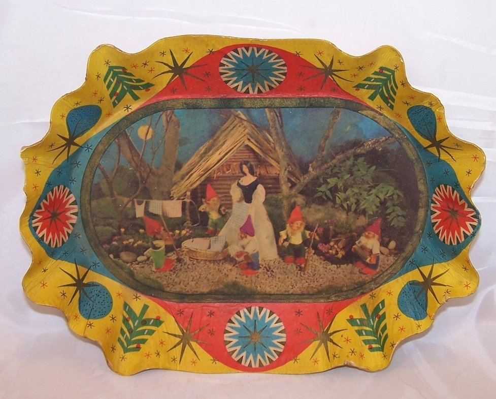 Snow White Paper Serving Bowl, Vintage German, Great Collectors Piece