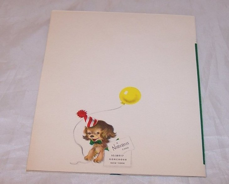 Image 2 of Birthday Card for Seven Year Old, Vintage, Unused, Norcross, New York