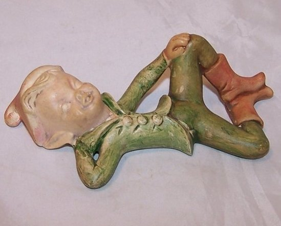 Holland Mold Elf, Pixie Figurine Relaxing