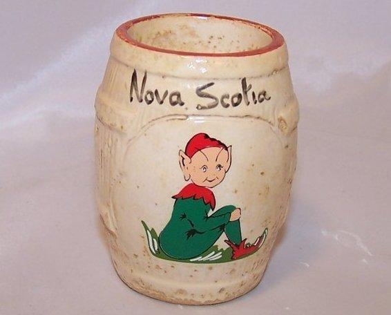Pixie, Elf on a Barrel Toothpick Holder, Nova Scotia