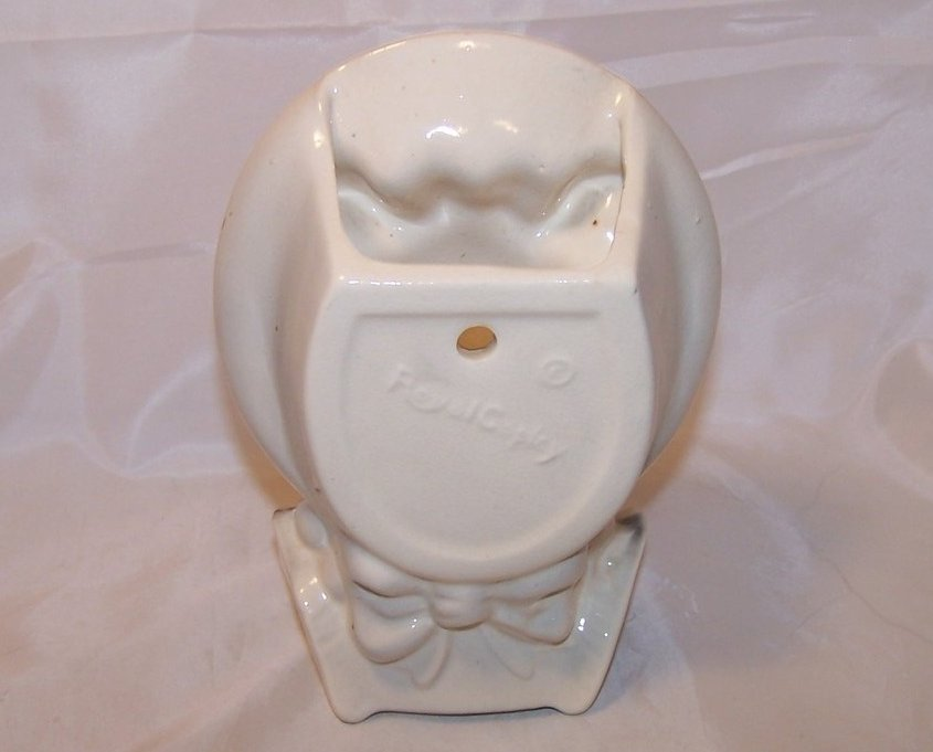 Image 2 of Royal Copley Pigtail Girl Wall Pocket Head Vase