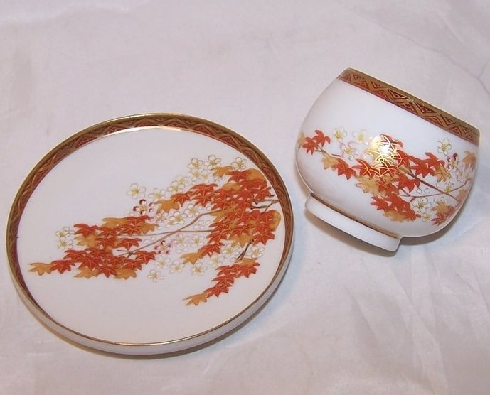 Image 1 of Autumn Leaves Tea Cup, Demitasse Cup and Saucer, China