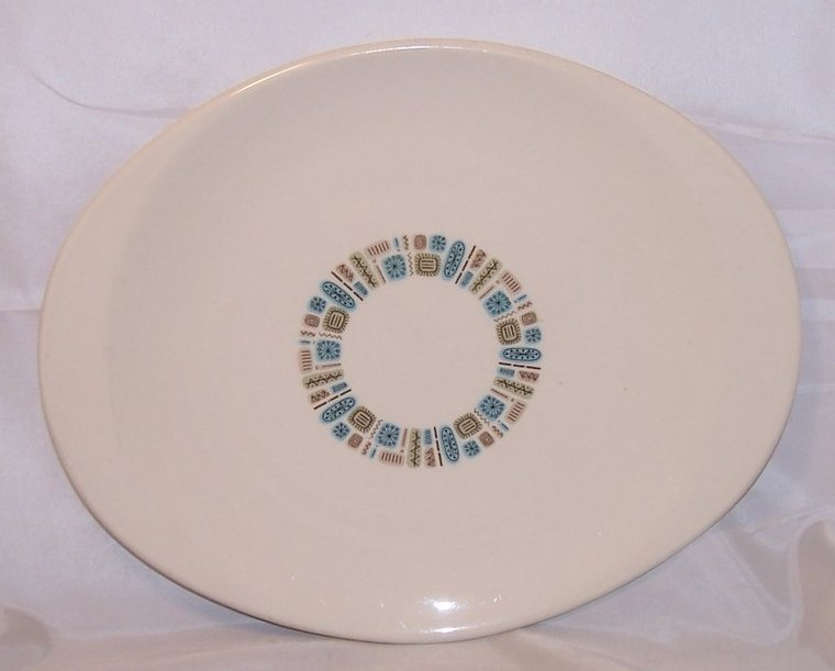 Image 0 of Temporama Oval Serving Platter, Plate, Dish, Canonsburg Pottery, Dura Gloss