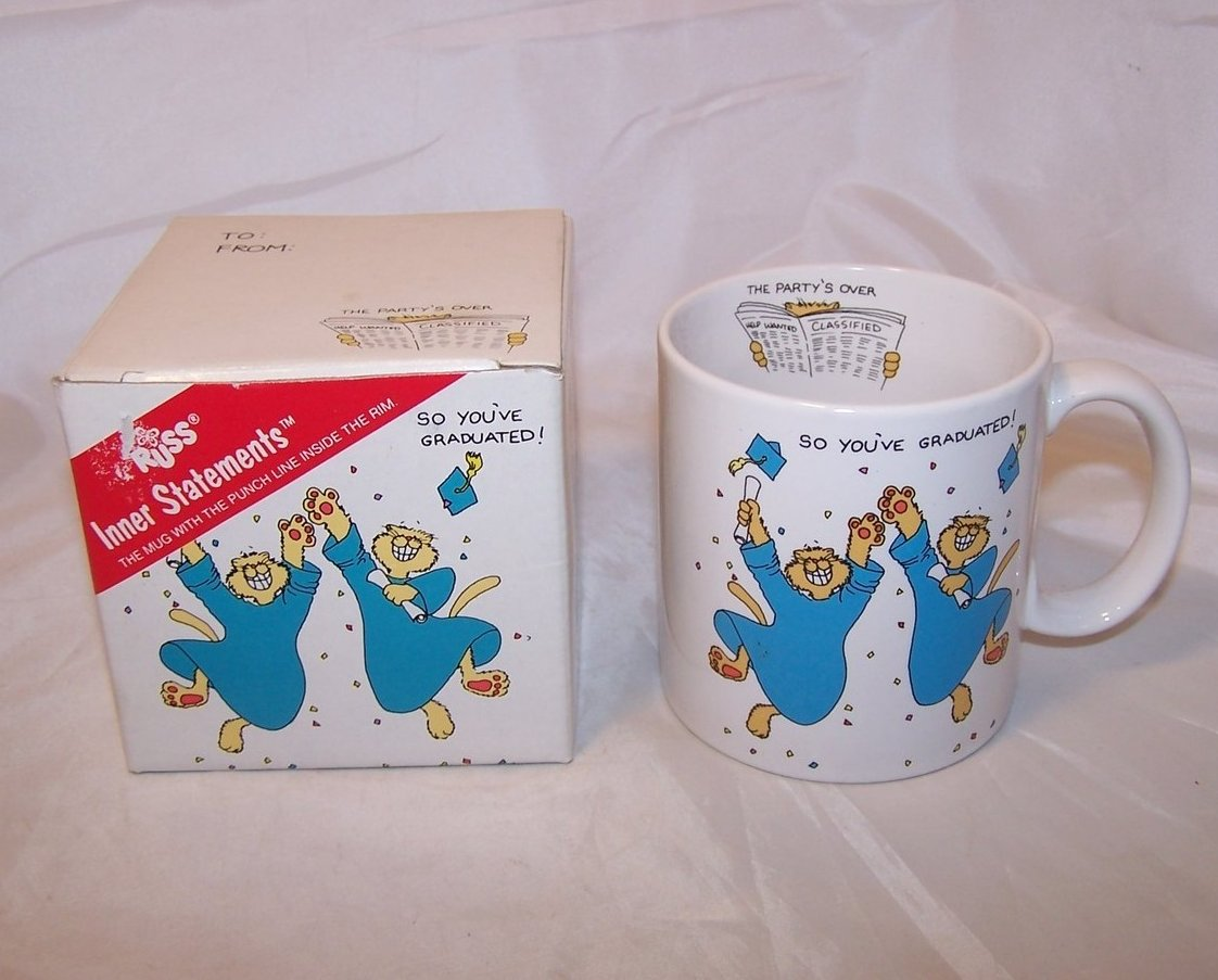 Graduation Inner Statement Mug, Cup, Russ, NIB New in Box