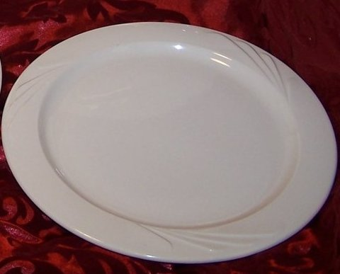 Sterling China Art Deco Style Dinner Plate, Ohio