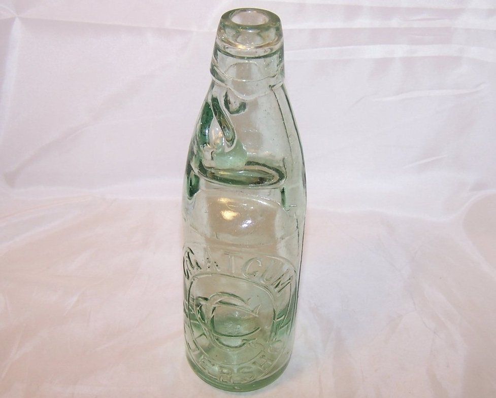 Image 0 of C Gatcum Aldershot, Hiram Codd Ball Stopper Bottle, Leeds and London