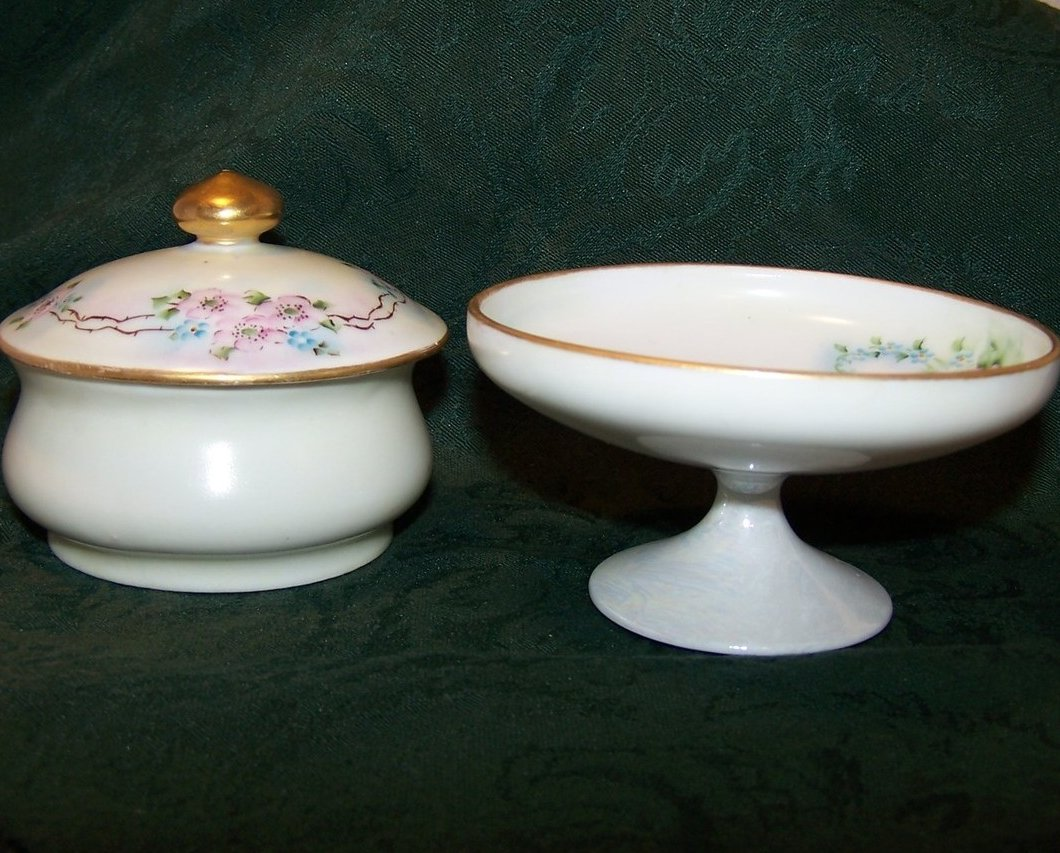 Image 2 of CB Mook Signed, MZ Austria, Flora Standing Bowl, Covered Dish