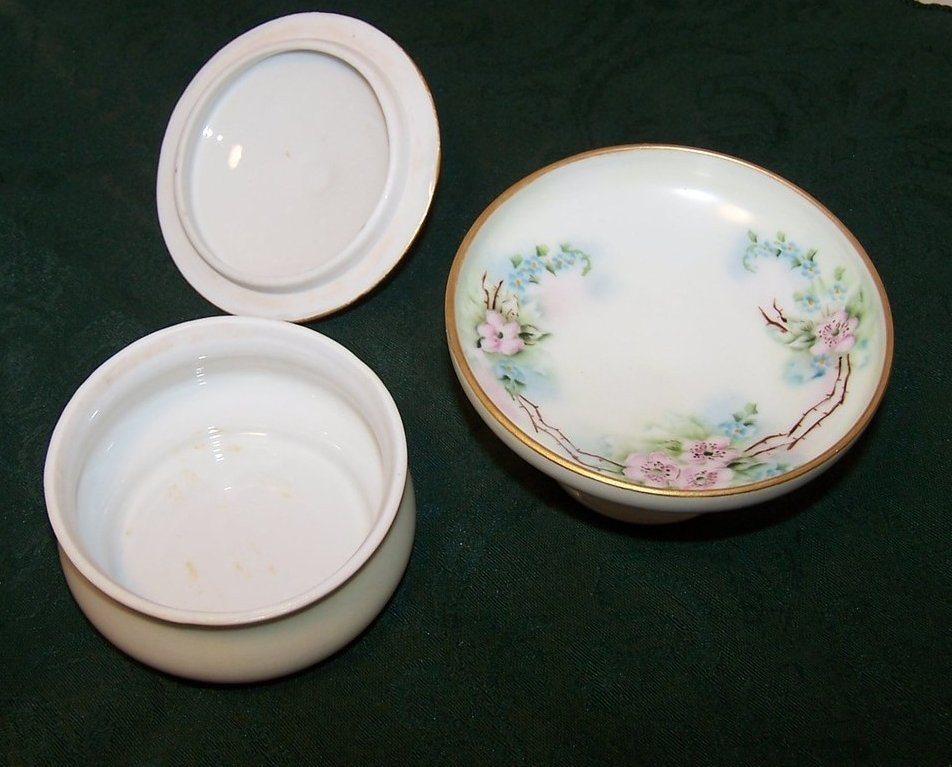 Image 4 of CB Mook Signed, MZ Austria, Flora Standing Bowl, Covered Dish