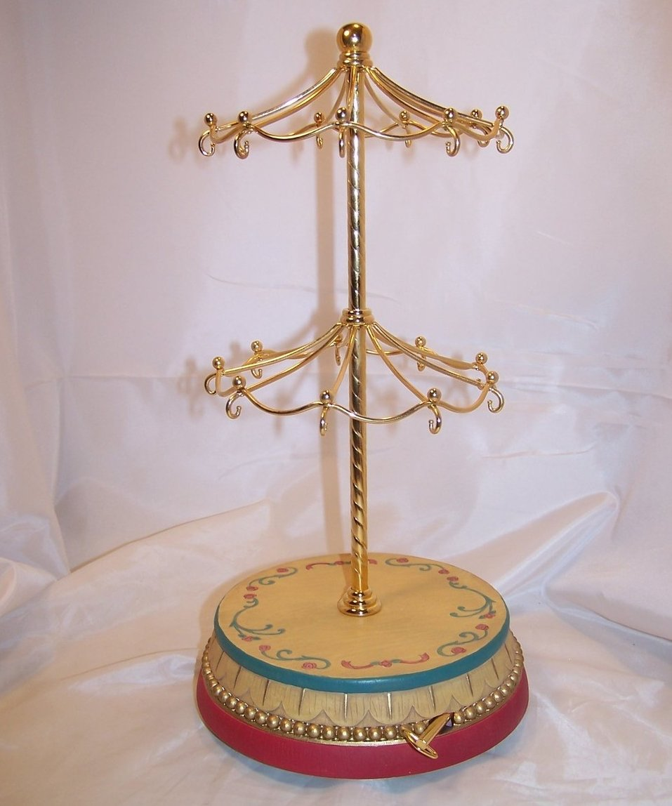 Two Tier Merry Go Round Carousel San Francisco Music Box, Waltz of the Flowers