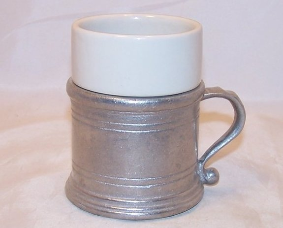 Armetale Tavern Holder w Cup Insert, Wilton Brass Company, USA
