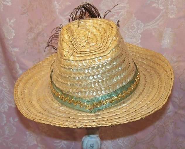 Image 1 of Childs Cowgirl Hat w Peacock Eye Feather
