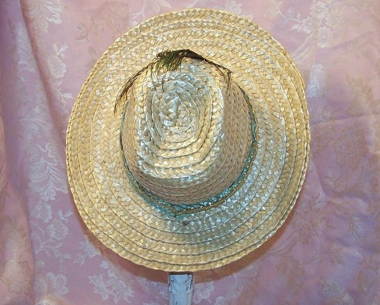 Image 2 of Childs Cowgirl Hat w Peacock Eye Feather