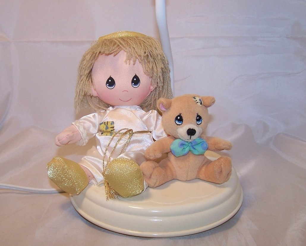 Plush Angel and Bear Nursery Lamp, Desk Lamp, Luv N Care