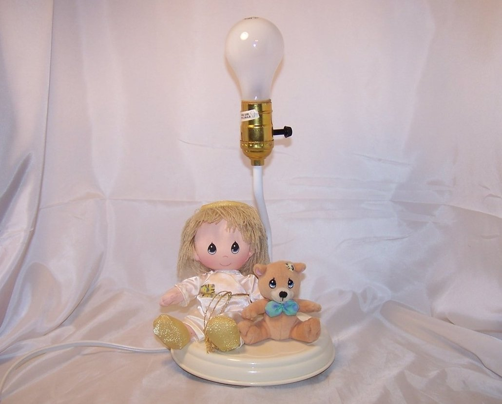 Picture of: Plush Angel And Bear Nursery Lamp Desk Lamp Luv N Care