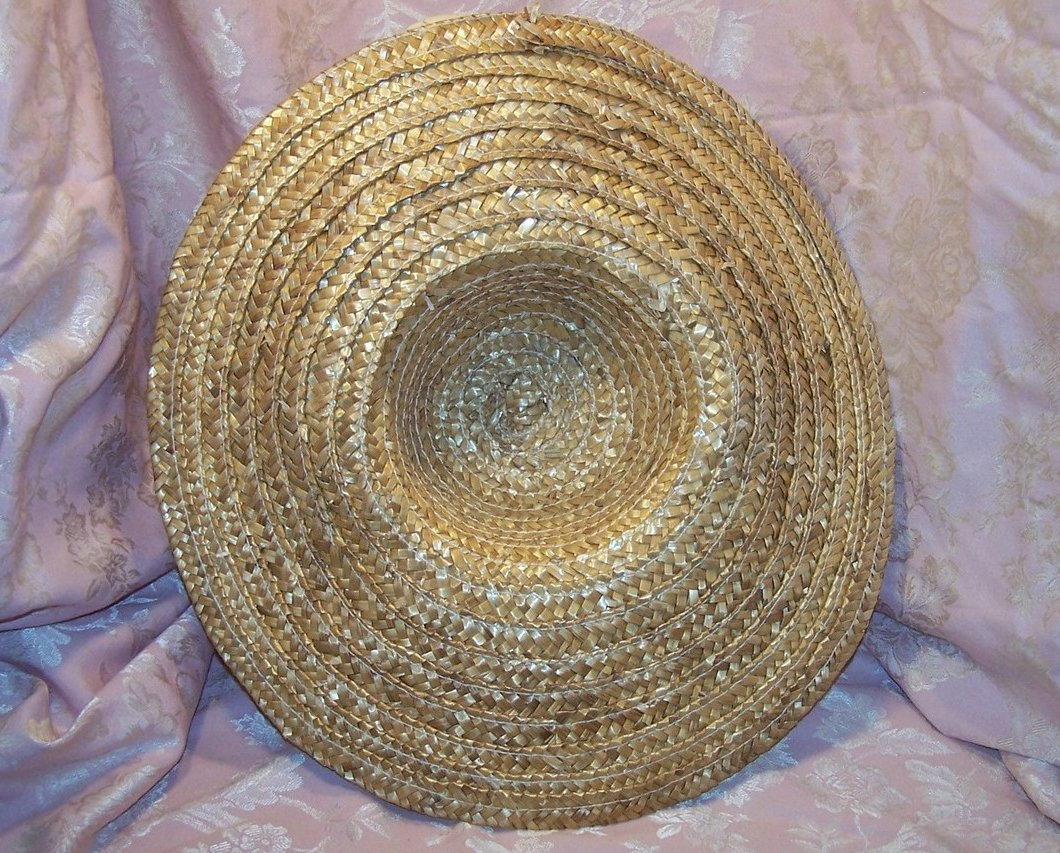 Image 4 of New Straw Hat w Flowers, Rhinestones, Beads