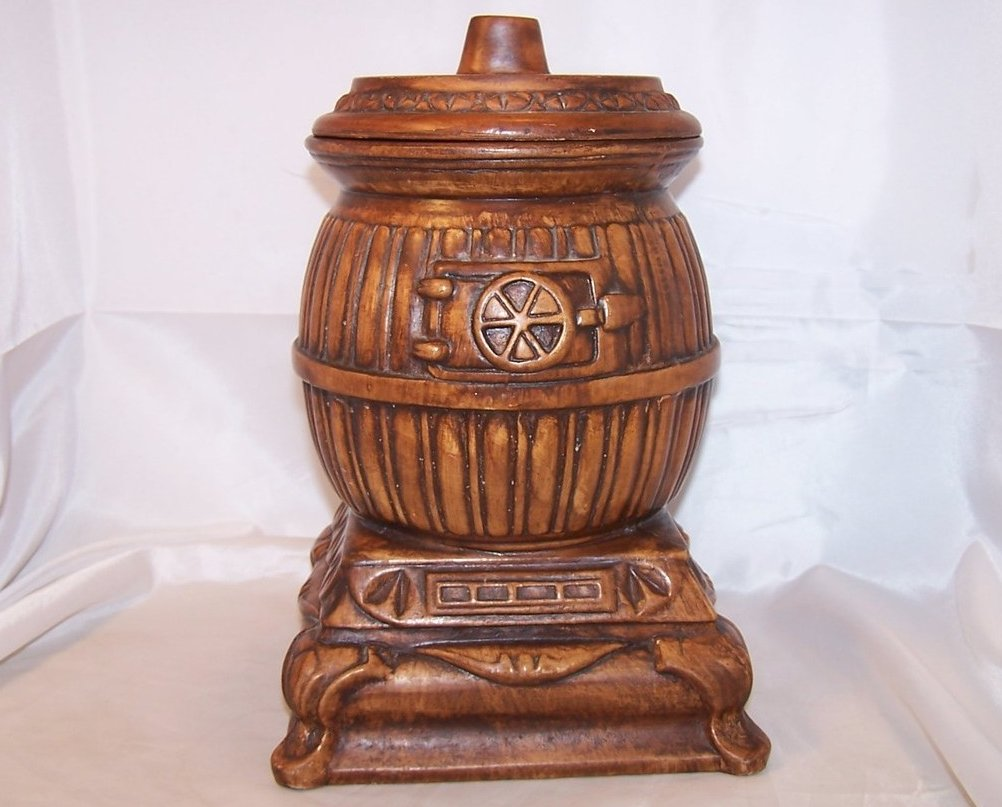 Potbelly Stove Cookie Jar, Treasure Craft