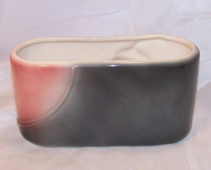 Image 2 of Stylized Oval Art Pottery Planter or Letter, Bill Holder