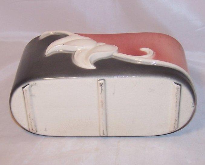 Image 4 of Stylized Oval Art Pottery Planter or Letter, Bill Holder