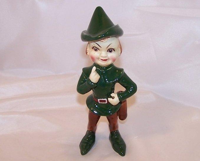 Kreiss Robin Hood, Elf Figurine, Ceramic, 1955