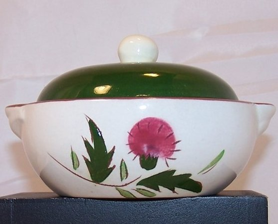 Thistle Pattern Covered Bowl, Dish w Lid, Stangl