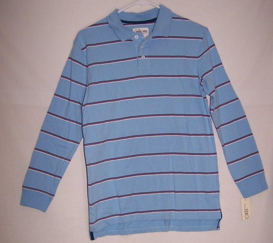 New Boys Sz 10, 12 Long Sleeved Striped Shirt, Cherokee