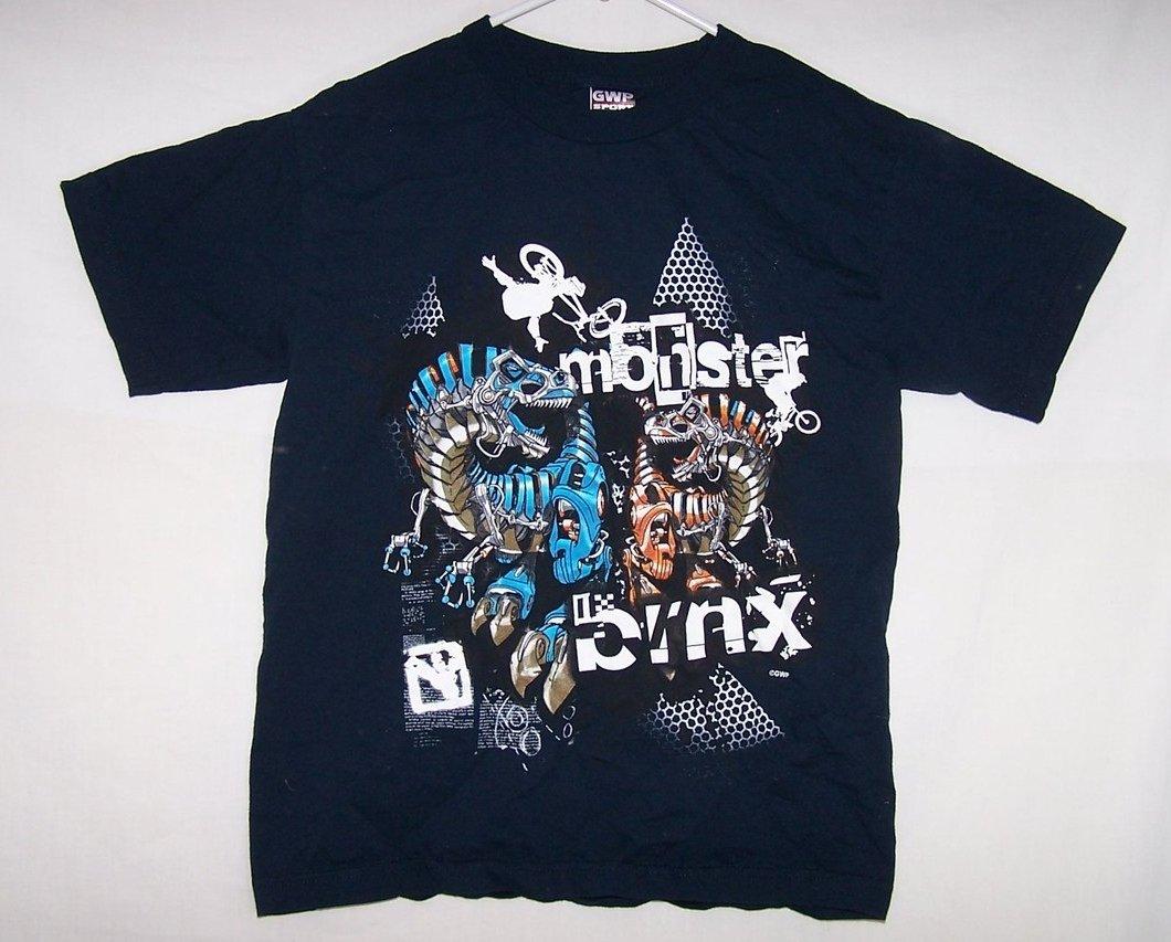 Boys Sz 14, 16 Monster BMX Bike Short Sleeved Shirt, GWP Sport